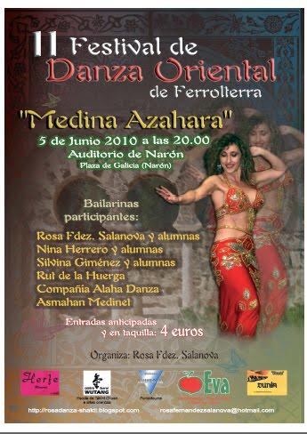 """II FESTIVAL DE DANZA ORIENTAL DE FERROLTERRA """"MEDINA AZAHARA"""""""