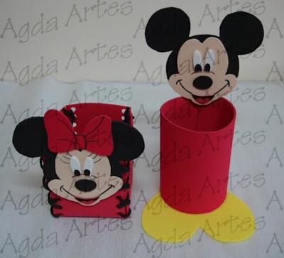 Mickey  S  O So Chaveirinhos Personalizados Em Feltro E Os Enfeites De