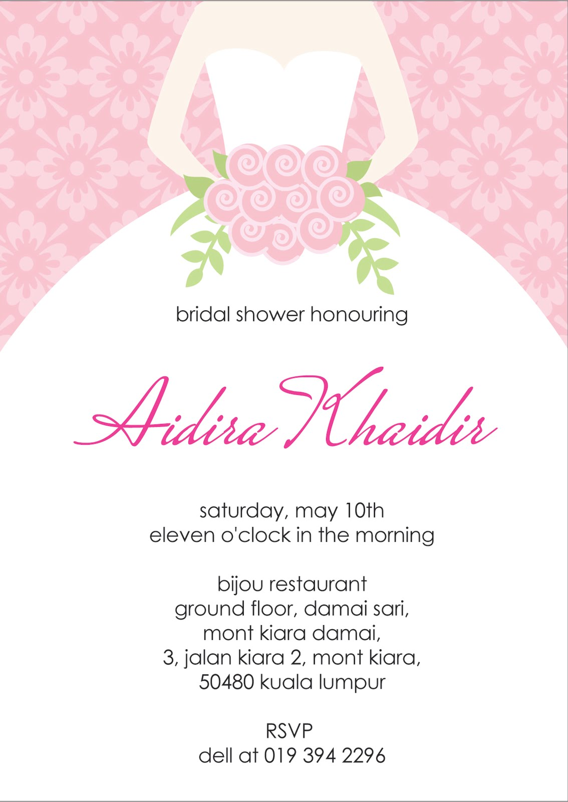 Fan image in printable bridal shower invitations
