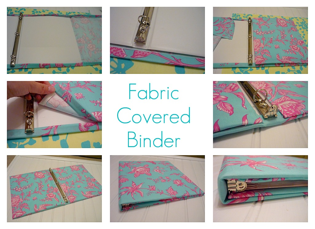 how to clean fabric binders