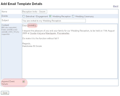 You may use this template in the Guest list view