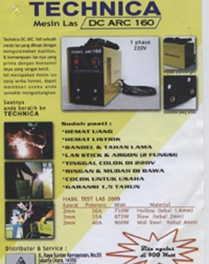 MESIN LAS 160 AMP(900 WATT)