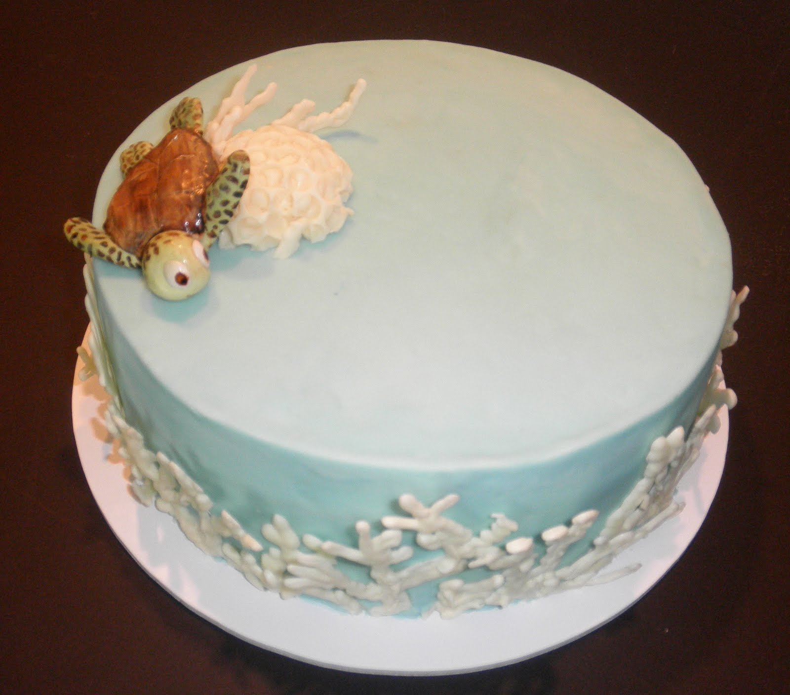 Sweet Ts Cake Design Sea Turtle Brain Coral And Finger Coral 40th
