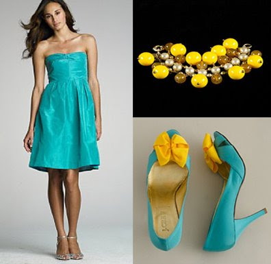 Aqua Yellow Inspiration Board for your 39fun in the sun 39 and modern wedding