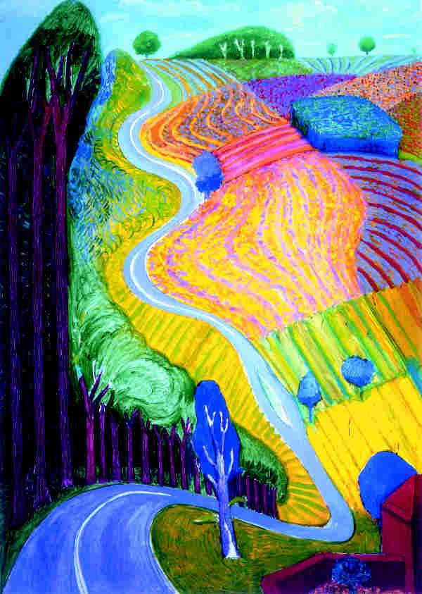 The indigo co art report david hockney for David hockney painting