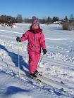 Bertine på skitur.