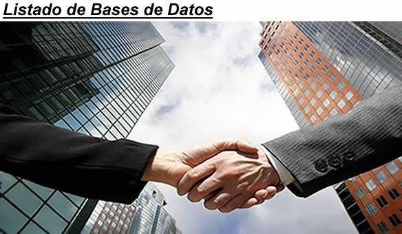 Bases de datos empresas bases de datos empresas bases for Listado de empresas malaguenas