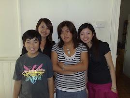 Karen, Caitlan, Graeme & Me, February 2008