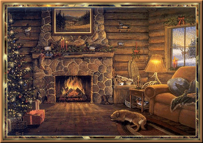 Jeanne 39 s jewelry designs december 2008 for Cabin fireplace pictures