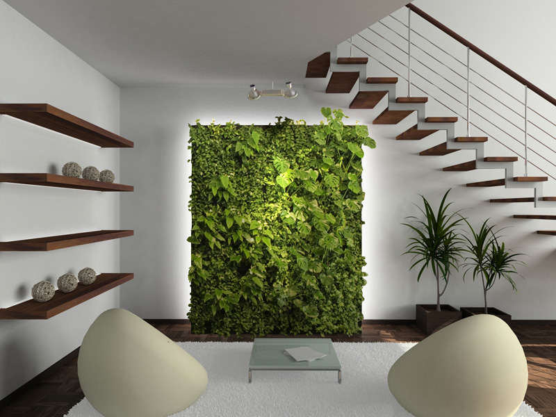 01 interior design green wall living wall
