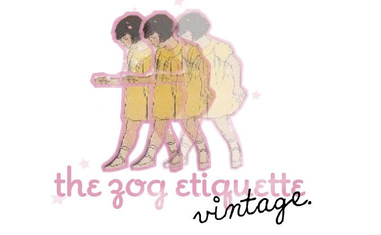 zog etiquette vintage.