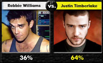 Robbie Williams vs. Justin Timberlake