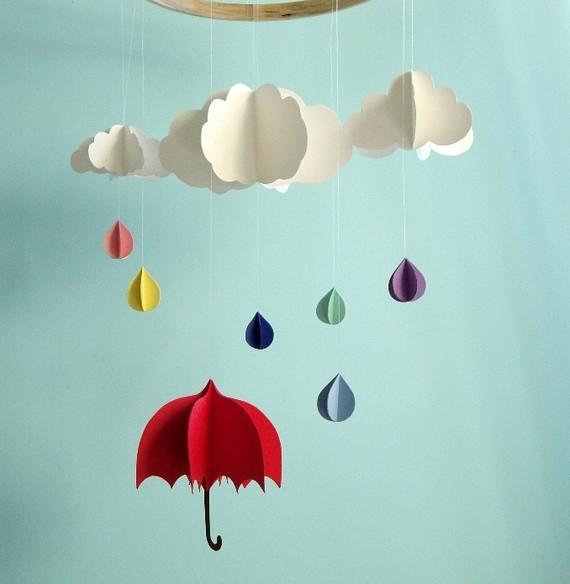 Зонтики на стену из бумаги своими руками