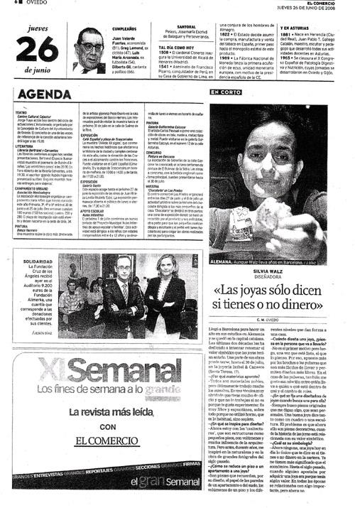 Agenda de El Comercio.Casitecturas