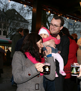 Sampling the mulled wine