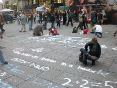 Alles Schall Und Rauch Al Kreida Aktion In Wien
