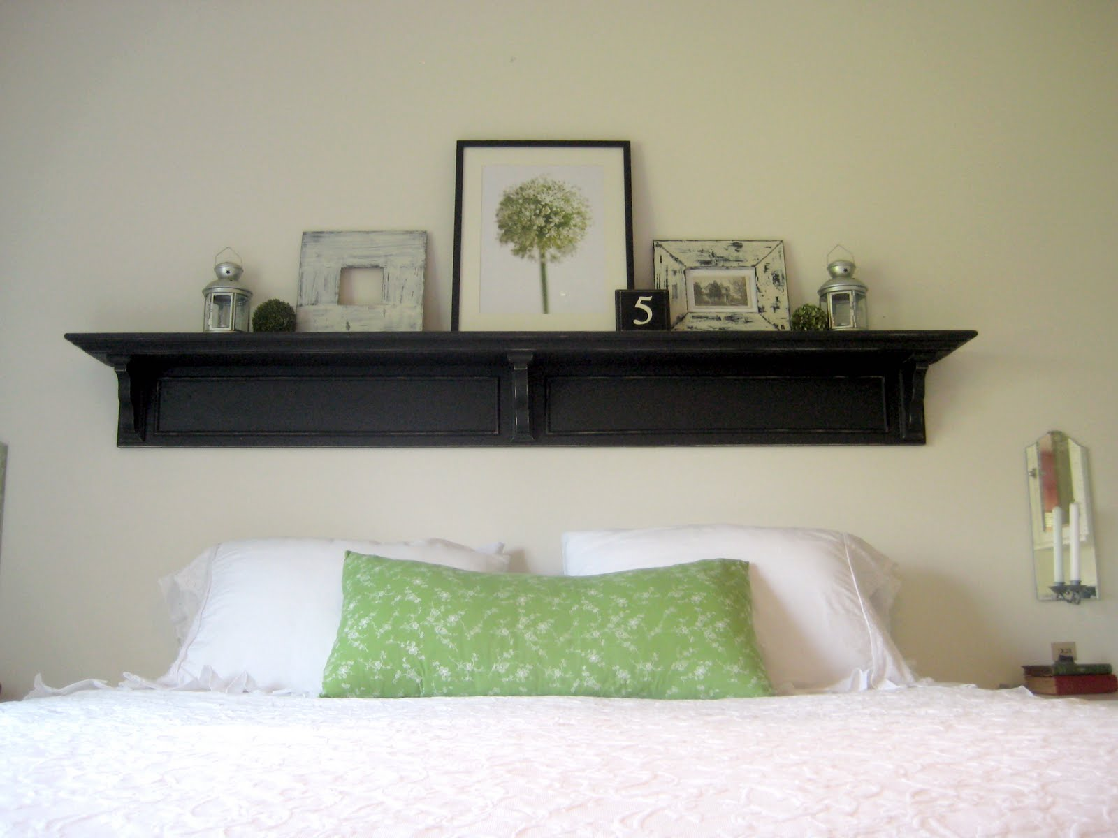 happy at home headboard shelf reveal