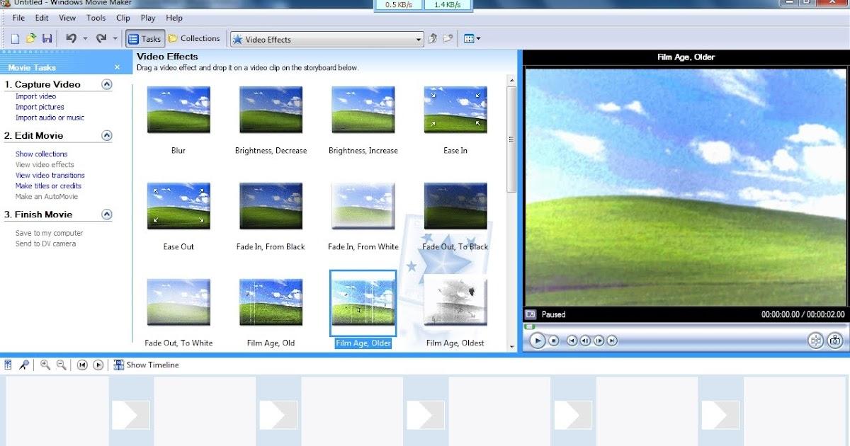 Windows Moviemaker in Windows-7