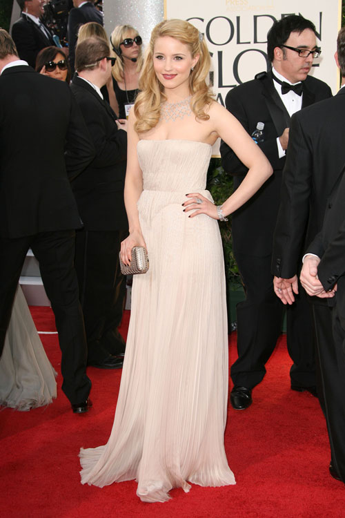 dianna agron dress golden globes. Dianna Agron in a gown by J