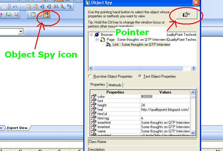 Object Spy In Qtp Qualitypoint Technologies Qpt