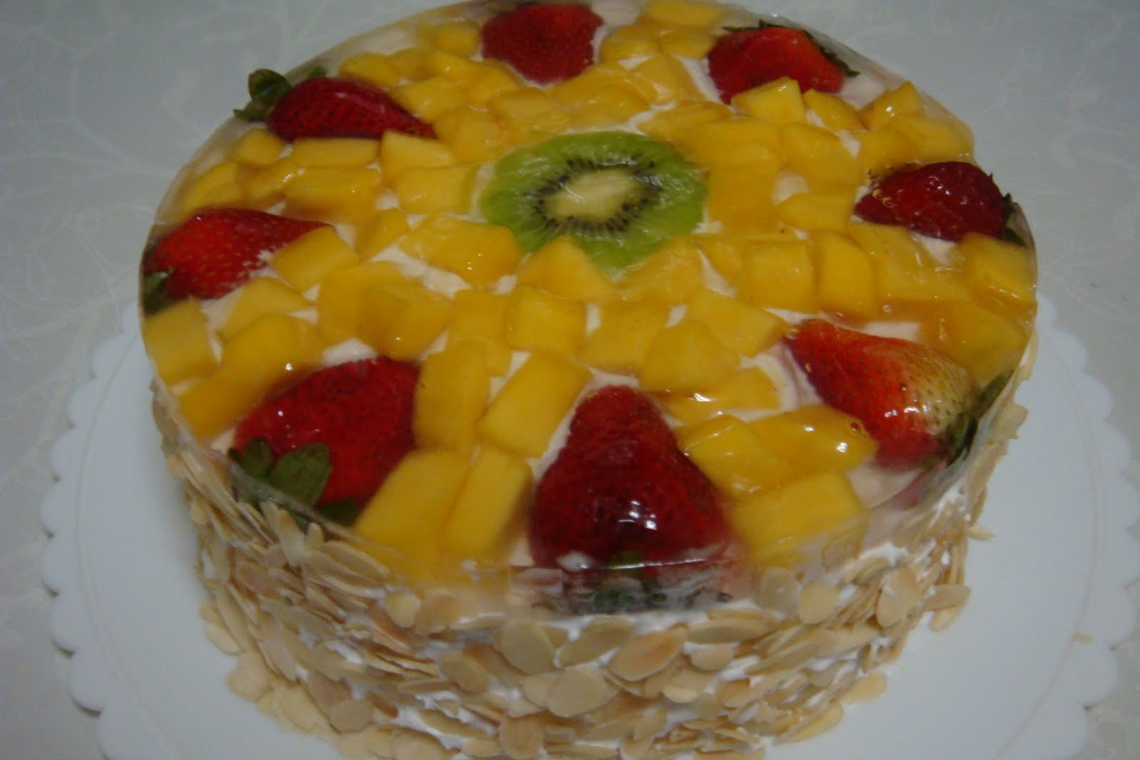 Cookiss @ Sheryl s Kitchen: Mango Fruit Flan Cake