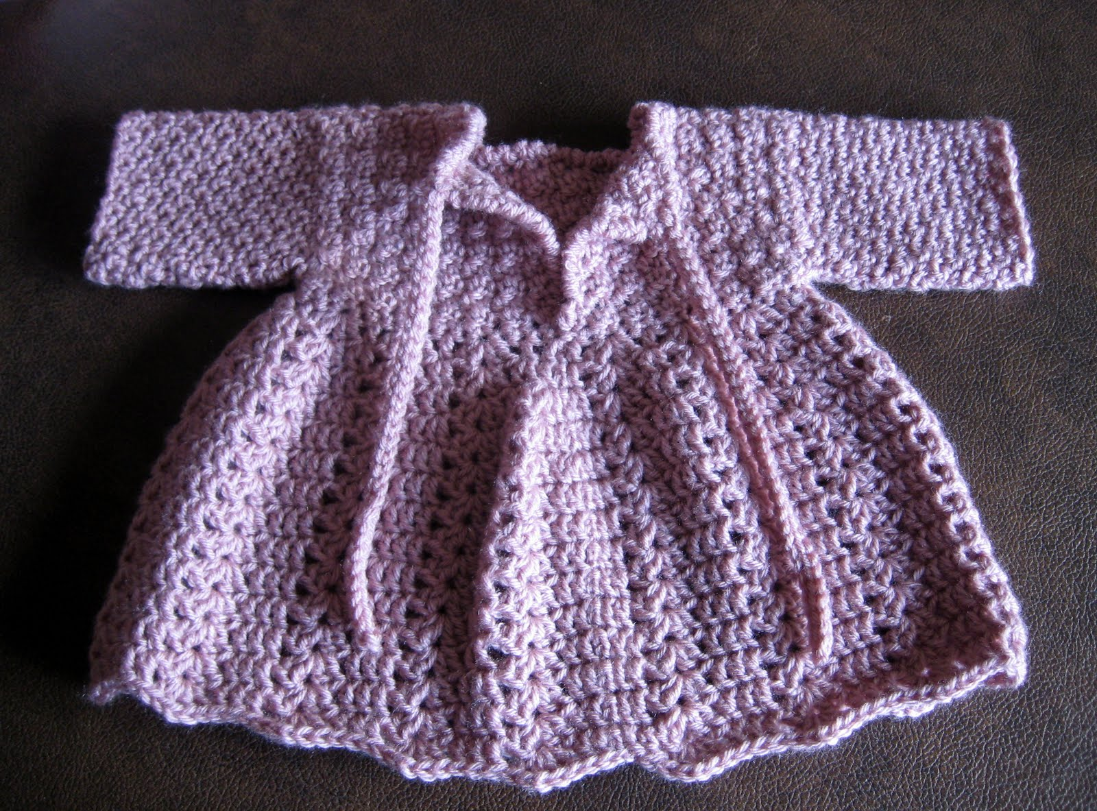 How To Crochet Baby Dress Pattern : Knotty Generation: Crochet Baby Winter Dress