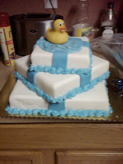 This one was a dummy cake for a baby shower too. Since no one was ...