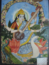 My painting - Saraswati, the Goddess of Knowledge and Arts