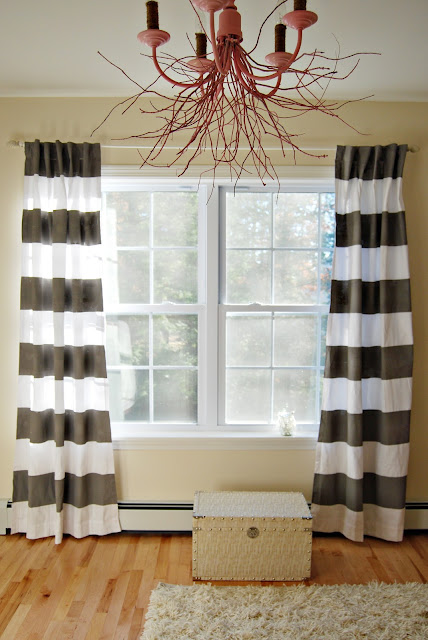 Reckless Glamour: DIY Horizontal Curtains