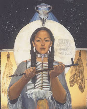 Ancient American Indian legends include mystical woman