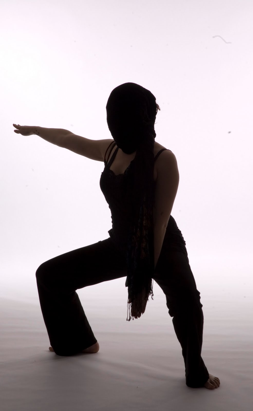 Contemporary dance silhouette
