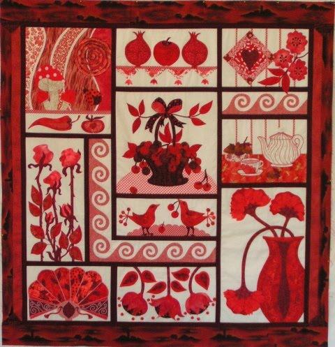 Quilt en rojo//Red Delicious