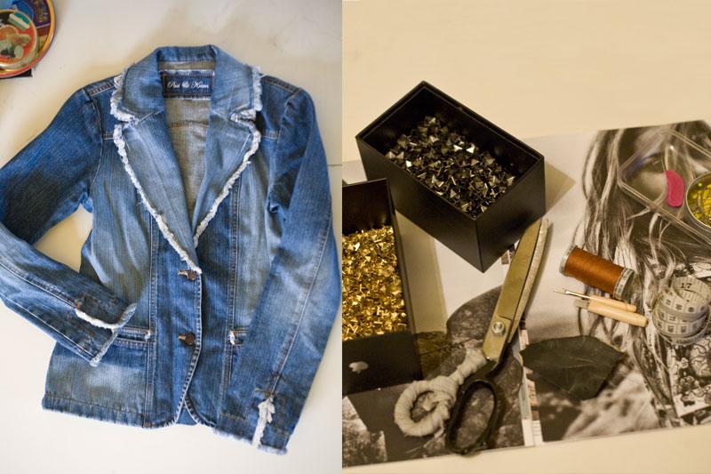 Как сделать куртку из джинсов