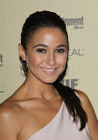 Emmanuelle Chriqui sexy little pink pvc dress