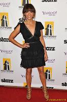 Rashida Jones little black dress