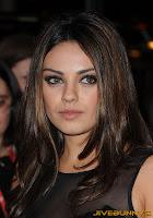 Mila Kunis in long black dress