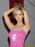 Ashley Jones pink top black shorts