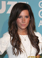Ashley Tisdale sheer white little dress
