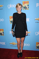 Heather Morris at Glee promo event