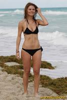 Maria Menounos sexy black bikini candids