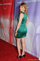 Aimee Teegarden - Sexy little green dress
