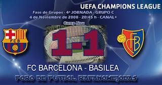 Video resumen goles Barça Basilea Barcelona Champions League goals