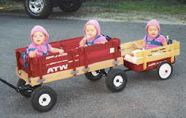 The girls in their wagon