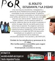 """""""Vamos por el boleto estudiantil y la 3ªedad"""""""