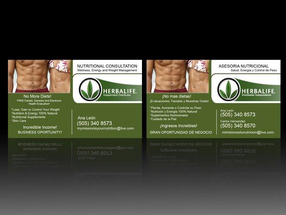 ajua design  herbalife business card