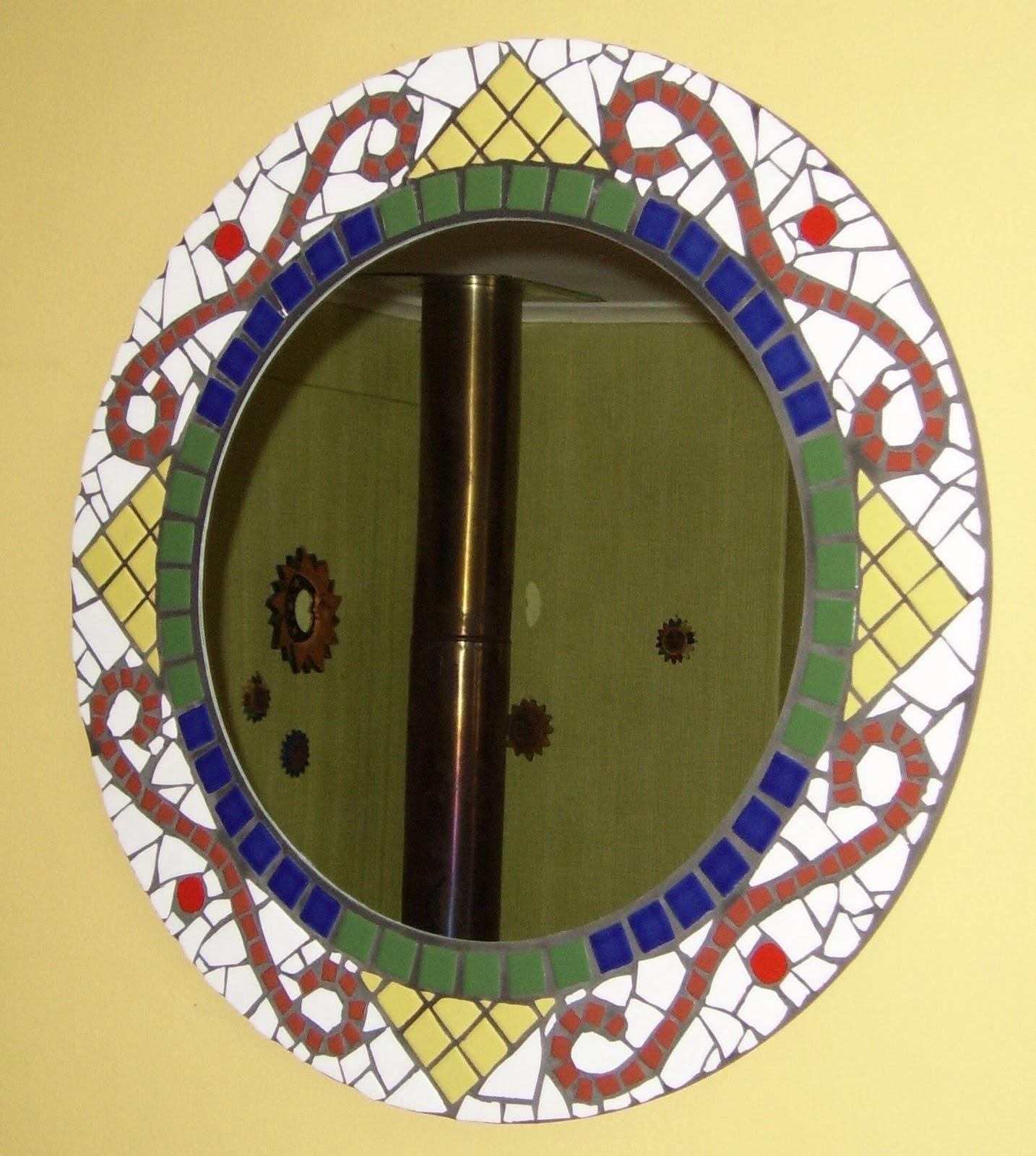 Toledomosaicos espejo redondo 60 cm de di metro colores for Espejo redondo blanco