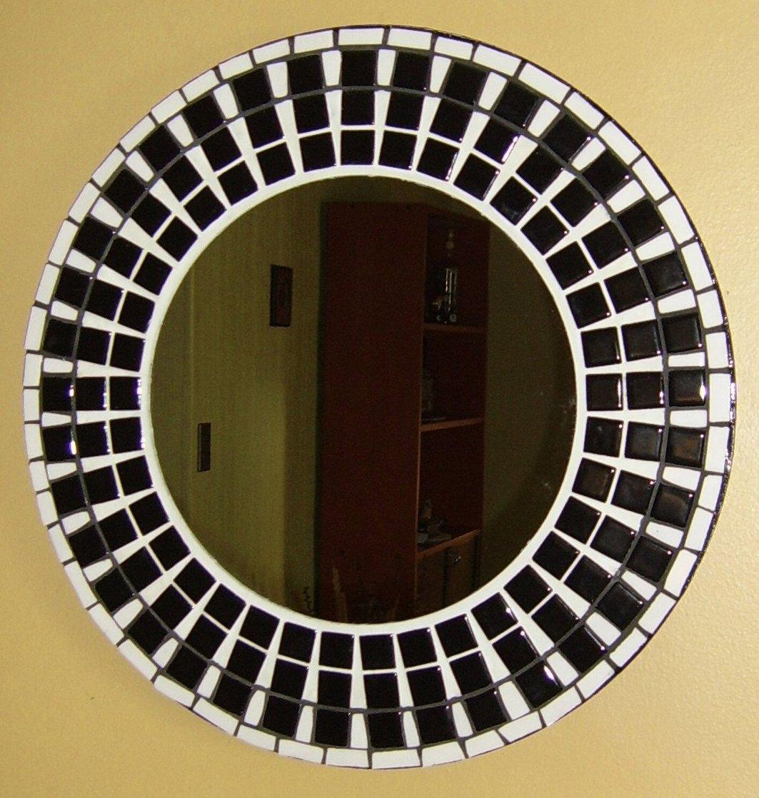 Toledomosaicos espejo redondo 50 cm de di metro en for Espejo redondo blanco