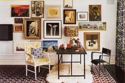 Wall of frames b splendid - Interiors by design picture frames ...