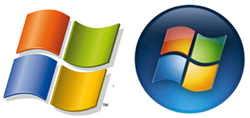 Windows XP och Windows Vista loggor