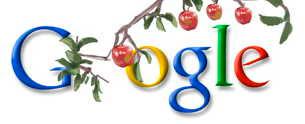 Google loggan hedrar Newton